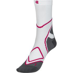 Bauerfeind Run Performance Mid Cut Socks Women, bianco/rosa